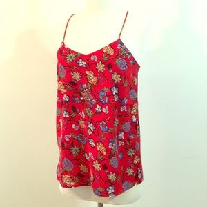 Chelsea & Theodore red floral top